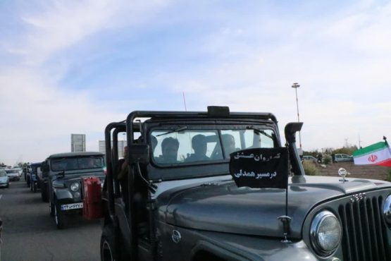 رژه جیب سواران در روز شهادت پیامبر اکرم(ص) و امام حسن مجتبی(ع) در رفسنجان / عکس
