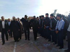 برگزاری صبحگاه مشترک نیروهای مسلح و دانش آموزی و مانور پدافند غیر عامل در مدرسه شهید انصاری رفسنجان  / عکس