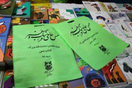 توزیع کیسه های پارچه ای به جای نایلون پلاستیکی در نمایشگاه کتاب مس رفسنجان / عکس