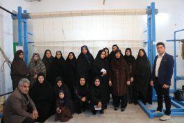 بازدید خبرنگاران از کارگاه قالی بافی عتبات در همت آباد آگاه رفسنجان / تصاویر