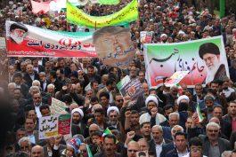 راهپیمایی ۲۲ بهمن در رفسنجان با حضور باشکوه مردم برگزار شد / گزارش تصویری