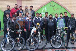 رکابزنان رفسنجانی عازم مسجد جمکران شدند / تصاویر