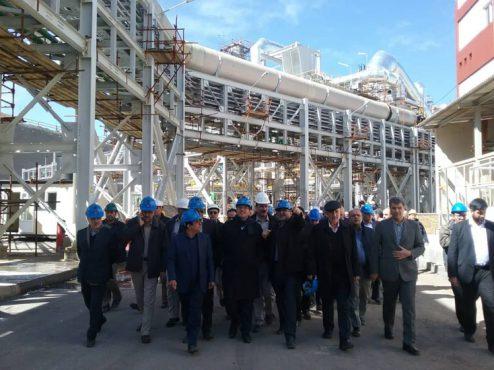 بازدید وزیر صنعت ، معدن و تجارت از کارخانه اسید مجتمع مس سرچشمه