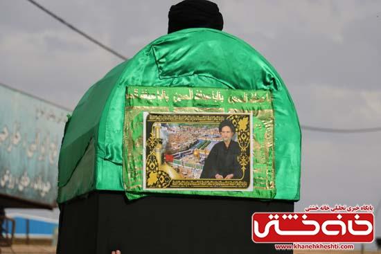 پیکر عالم جلیل القد حاج سید عبدالعظیم خردمند در رفسنجان تشیع و خاکسپاری شد /عکس