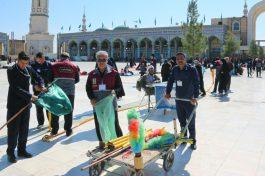 خدمات رسانی ۶۰۰ خادم افتخاری مسجد جمکران از رفسنجان در ایام نیمه شعبان / تصاویر