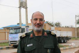 احداث چهار 4 اردوگاه جهت اسکان سیل زدگان در شهر حمیدیه خوزستان توسط سپاه کرمان