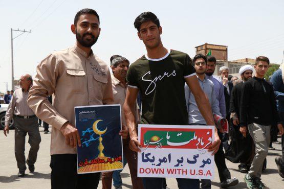 """"""" نه """" قاطع مردم و مسئولین رفسنجان به معامله قرن / تصاویر"""