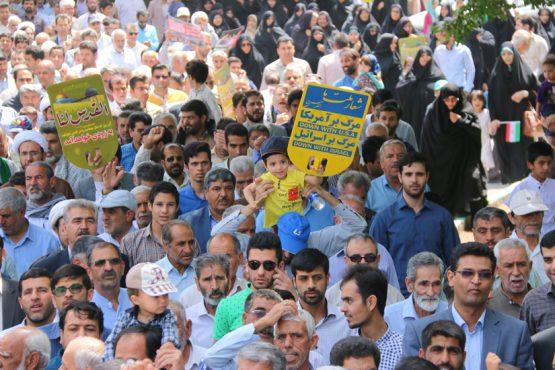 تقدیر شورای تبیین مواضع بسیج دانشجویی رفسنجان از حضور باشکوه مردم در راهپیمایی روز قدس