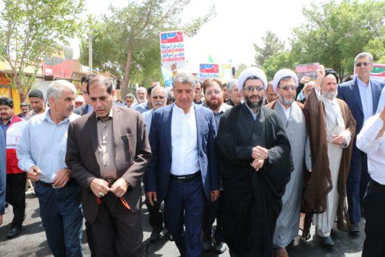 کدام مسئولین در راهپیمایی روز قدس در رفسنجان حضور یافتند؟ / عکس