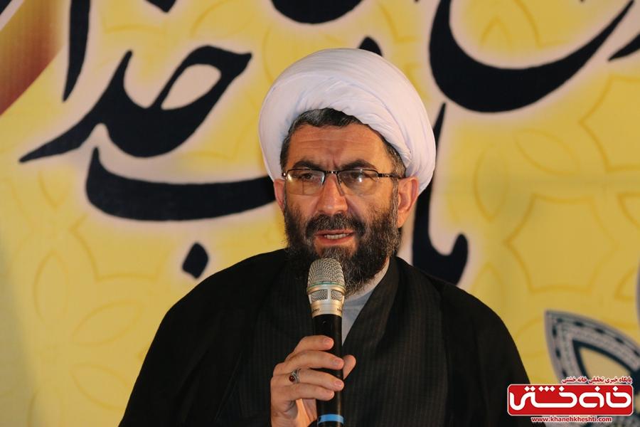 حجت الاسلام رمضانی پور امام جمعه در مراسم وداع با ماه مبارک رمضان در مسجد جامع رفسنجان