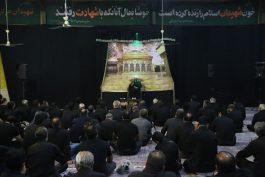 مراسم عزاداری شب تاسوعای حسینی درمعراج شهدای رفسنجان + تصاویر