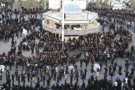 تجمع عزاداران حسینی در سقاخانه ابوالفضل(ع) رفسنجان