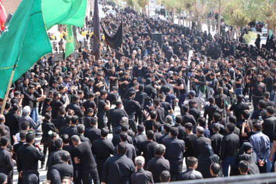 عزاداری دسته های عزا در قاسم آباد رفسنجان / گزارش تصویری