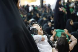 همایش شیرخوارگان حسینی در معراج شهدا حسینیه ثارالله رفسنجان /عکس