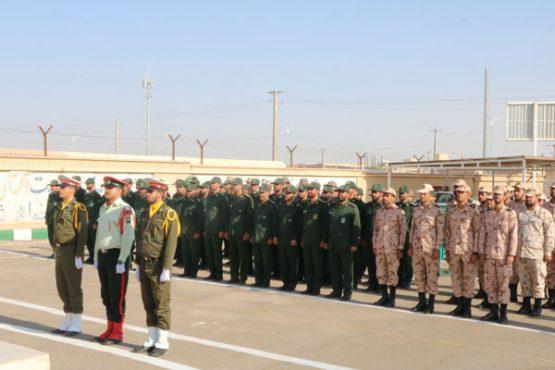 صبحگاه مشترک نیروهای مسلح شهرستان رفسنجان برگزار شد/ عکس