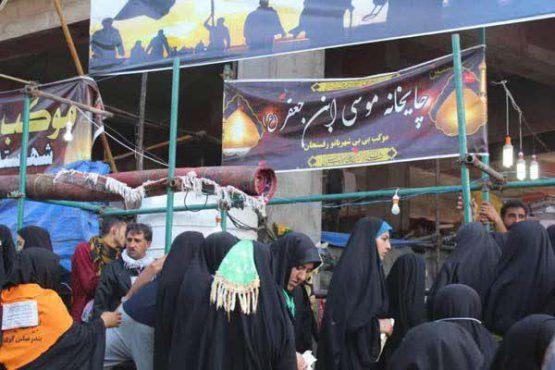 موکب بی بی شهربانو رفسنجان پذیرای زائرین اربعین حسینی/ تصاویر