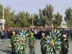 پدر شهیدان حسینی در رفسنجان تشییع شد/ عکس
