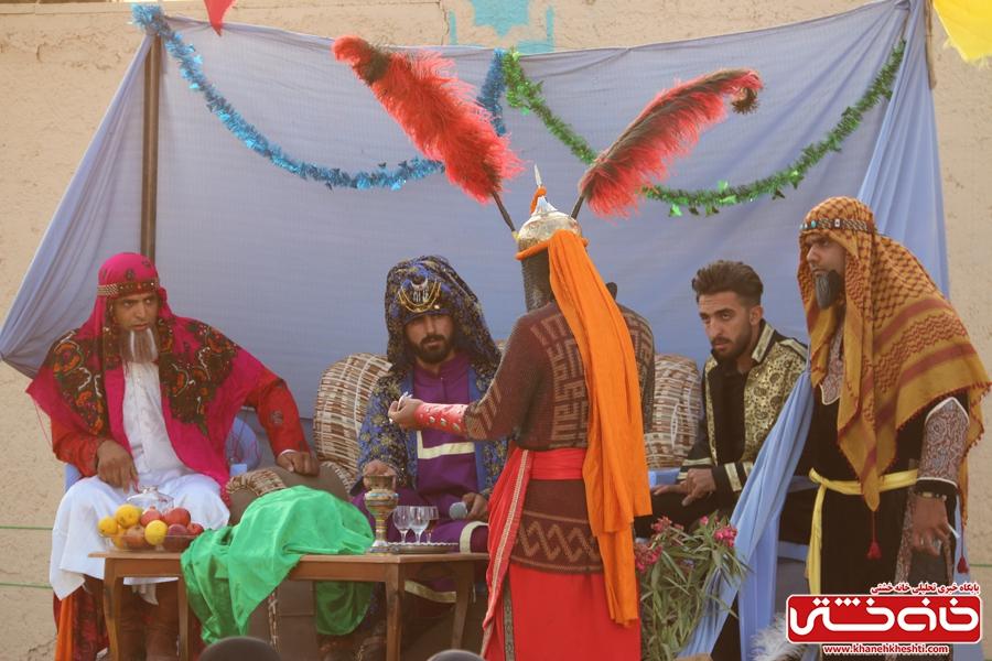 اجرای تعزیه بازار شام توسطگروه تعزیه خوانی آل طه رفسنجان در مصلی بزرگ امام خامنه ای رفسنجان