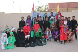 اجرای گروه تعزیه خوانی آل طه در رفسنجان به روایت تصویر