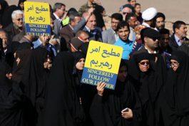 راهپیمایی نمازگزاران رفسنجانی در اعتراض به اغتشاشات اخیر در کشور/ تصاویر