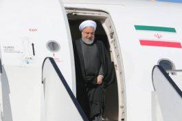 هواپیمای حامل رئیس جمهور در فرودگاه رفسنجان به زمین نشست
