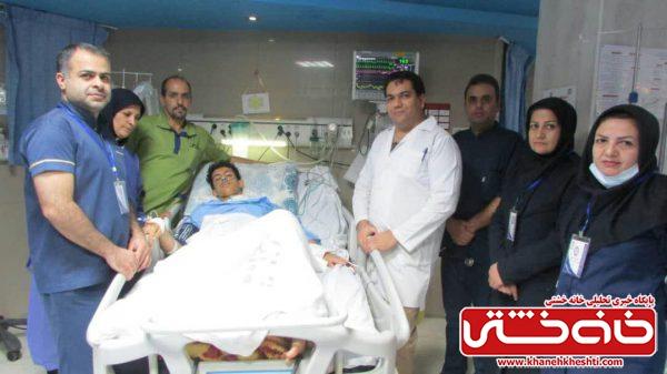 مجروح ۱۷ ساله در بیمارستان رفسنجان از مرگ نجات یافت