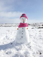 برف بازی رفسنجانی ها در جاده سرچشمه + تصاویر