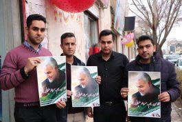 """مردم و مسئولان رفسنجان به کمپین """"من سردار سلیمانی هستم"""" پیوستند/ تصاویر"""