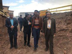 بازدید معاون وزارت بهداشت از پروژه های عمرانی بیمارستان رفسنجان