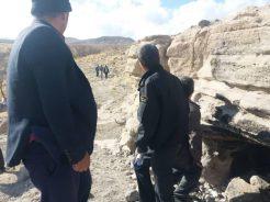 دستگیری چهار نفر حفار غیر مجاز در روستای دره کردی راویز رفسنجان + تصاویر