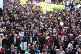 راهپیمایی ضد آمریکایی اسراییلی نمازگزاران رفسنجانی در پی شهادت سردار حاج قاسم سلیمانی+ فیلم