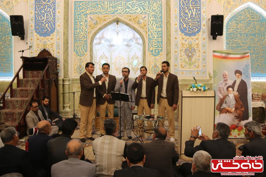 گروه تواشیح در مراسم افتتاحیه شبستان اصلی مسجد الزهرا (س) رفسنجان و جشن میلاد حضرت فاطمه(س)