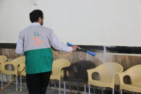 مساجد و تکیه های رفسنجان ضد عفونی شدند + تصاویر