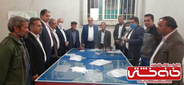 راهاندازی ۶ کارگاه تهیه ماسک توسط موکب امام علی (ع) منطقه نوق رفسنجان
