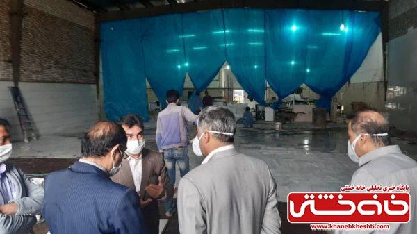 سالن بحران بیمارستان علی ابن ابیطالب(ع) رفسنجان در حال تجهیز است