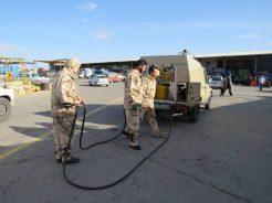اقدامات گروه توپخانه ۶۵ صاعقه رفسنجان در مقابله با کرونا / تصاویر