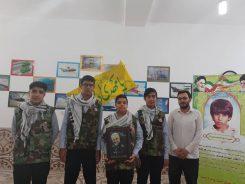 اجرای سرود دانش آموزان بسیجی رفسنجان برای حمایت از مردم فلسطین