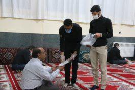 توزیع ماسک در مساجد رفسنجان در شبهای قدر + تصاویر