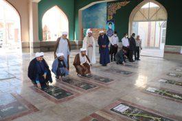 گلباران قبور شهدا توسط رئیس و کارکنان سازمان تبلیغات در رفسنجان + تصاویر