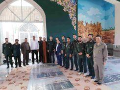 تجدید میثاق با شهدا در اولین روز کاری فرمانده ناحیه مقاومت بسیج رفسنجان/تصاویر