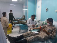 اجرای اولین مرحله کمک مومنانه اهدای خون توسط حوزه مقاومت بسیج خاتم الانبیای رفسنجان + تصاویر