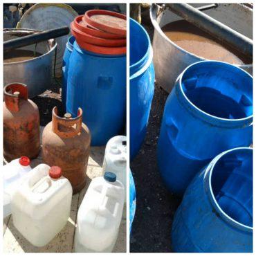 کشف یک کارگاه تولید مشروبات الکلی دست ساز در رفسنجان