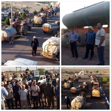 بسیجیان برای پاکسازی منطقه کبوترخان از ملخ ها به میدان آمدند