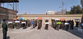 بسیجیان رفسنجان توهین نشریه فرانسوی به پیامبر اسلام (ص) را محکوم کردند/ تصاویر