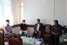 هنرمندان جوان رفسنجانی با رییس بنیاد شهید رفسنجان دیدار کردند