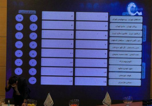 برگزاری قرعهکشی بیستمین دوره لیگ برتر فوتبال + برنامه کامل نیمفصل اول