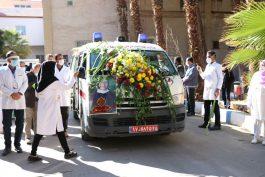 نخستین شهید مدافع سلامت رفسنجان در زادگاهش آرام گرفت/ تصاویر