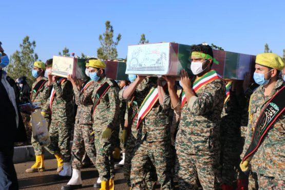پیکر مطهر دو شهید گمنام در رفسنجان تدفین شد/ تصاویر