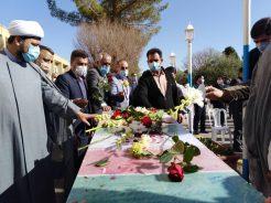 آیین استقبال از دو شهید گمنام رفسنجان به روایت تصویر