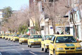 رژه تاکسیرانان رفسنجان در اولین روز دهه فجر + تصاویر